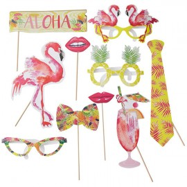 Kit photo booth flamingos