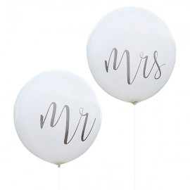 Pack globos gigantes Mr & Mrs