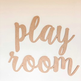 Letrero play room